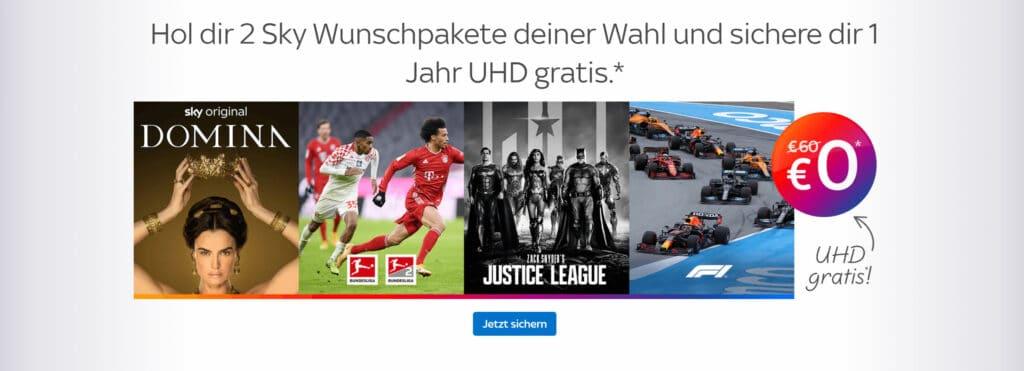 Aktuell bietet Sky Deutschland die Option für UHD gratis an.