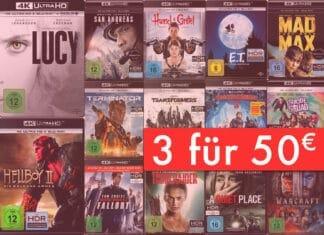 DRei 4K UHD Blu-rays für nur 50 Euro in der Verkaufsaktion von Amazon.de