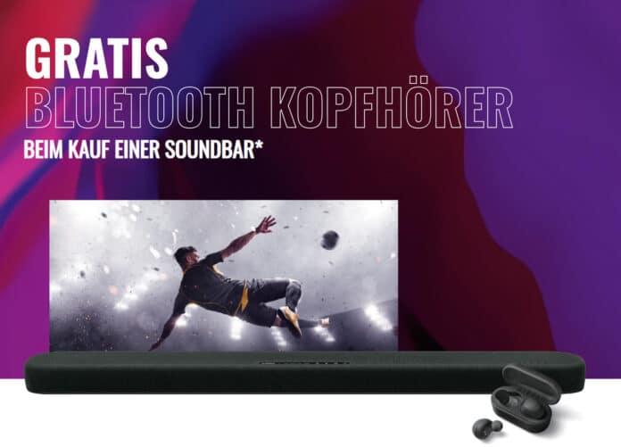 Gratis drahtlose Bluetooth-Kopfhörer sichern beim Kauf einer Yamaha Aktions-Soundbar
