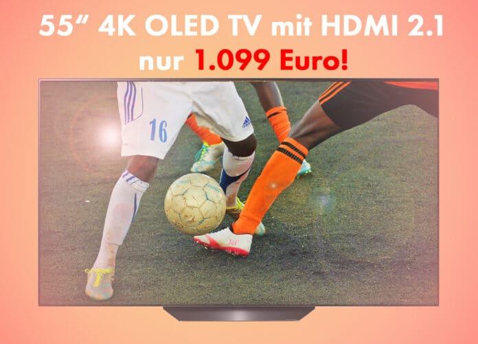 Amazon dreht am Preisrad: LG 4K OLED TV mit 55 Zoll und HDMI 2.1 für 1.099 Euro