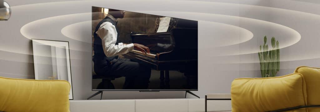 realme bewirbt die TVs auch mit Dolby Atmos.