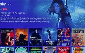 Fünf Filme aus dem Resident Evil-Franchise sind auf Sky Q in UHD abrufbar