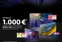 1000 Euro Caschback Sony 4K und OLED Fernseher 2021