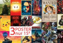 3 Poster auswählen und nur 15 Euro bezahlen!