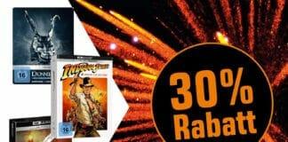 30 Prozent Rabatt auf lieferbare 4K Blu-rays, Blu-rays, DVDs, CDs und Vinyl!