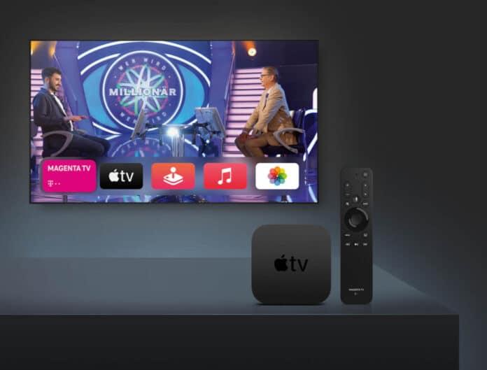 Die Telekom vertreibt den Apple TV 4K mit einer eigenen Fernbedienung.