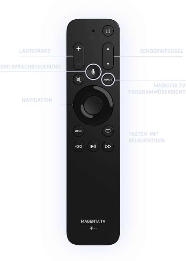 Die spezielle Apple-TV-4K-Remote der Telekom.