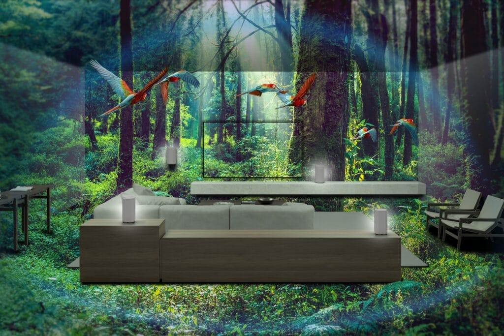 Raumfüllender, immersiver Klang, unabhängig von der Positionierung der HT-A9 Lautsprecher