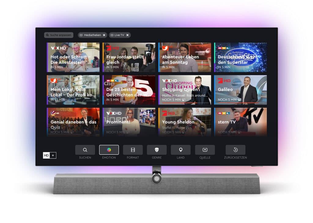 Philips integriert HD+ ab Oktober 2021 direkt in ausgewählte TVs.