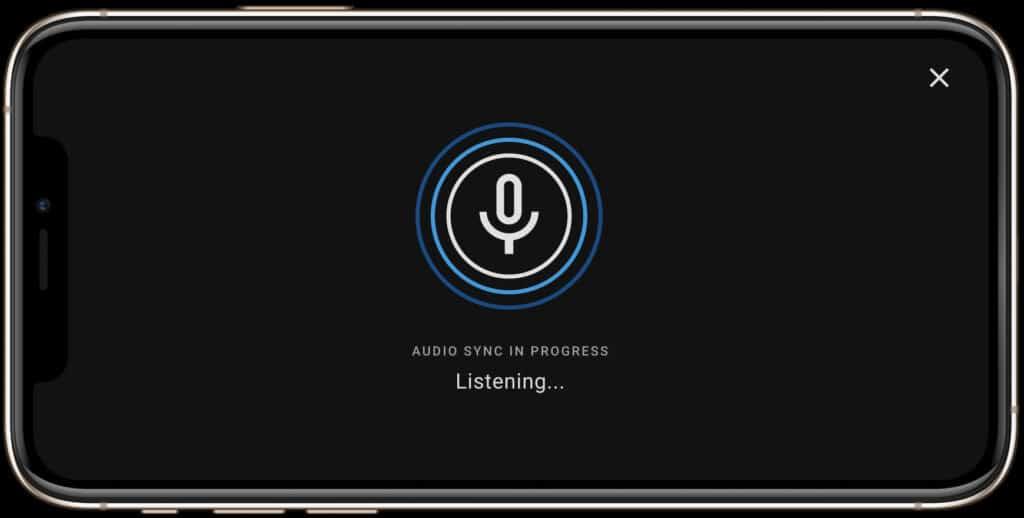 Die Synchronisation zwischen App und TV erfolgt per Audio.