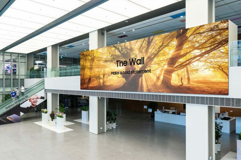 Samsungs The Wall 2021 basiert erneut auf Micro LED.