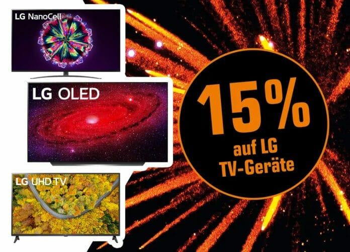 15 Prozent auf ausgewählte LG TV-Geräte (viele zum Bestpreis)