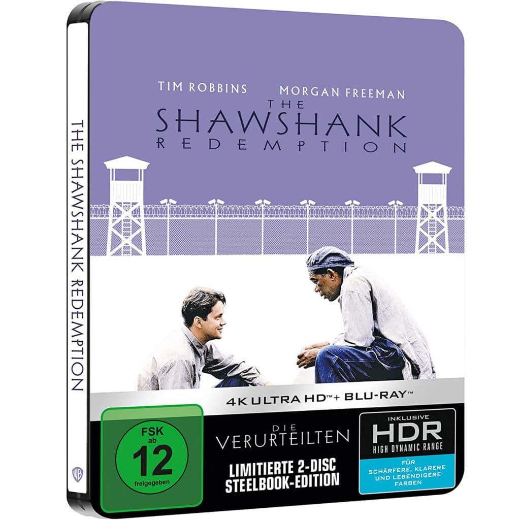 """Das Cover für das deutsche 4K Blu-ray Steelbook von """"Die Verurteilten"""""""