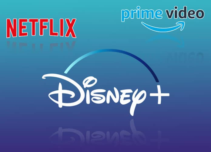 Disney Plus - Netflix - Prime Video Marktanteile