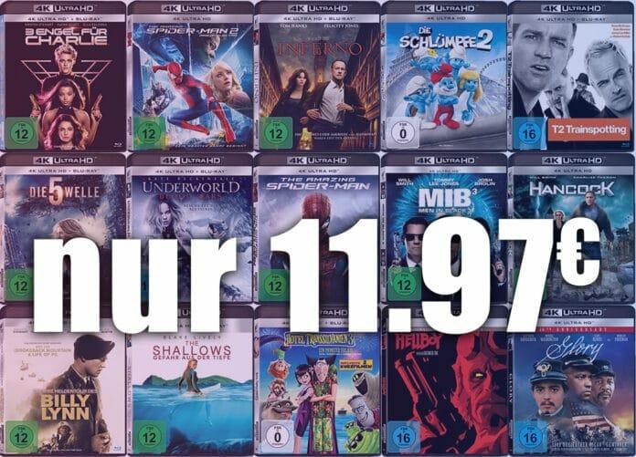 Ausgewählte Sony 4K Blu-rays derzeit für nur 11.97 Euro!