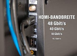 HDMI Bandbreite Bitrate