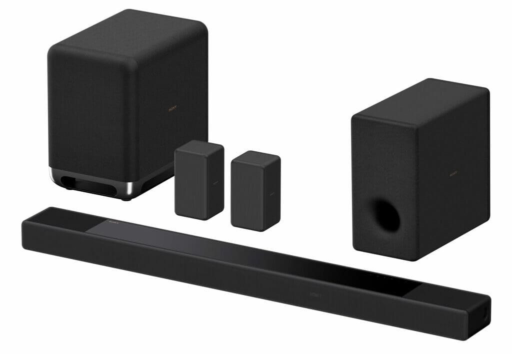 Die Sony HT-A7000 lässt sich durch den SA-SW5 Subwoofer (300W links), den zwei Rear-Lautsprechern SA-RS3S, oder dem SA-SW3 Subwoofer (200W rechts) erweitern