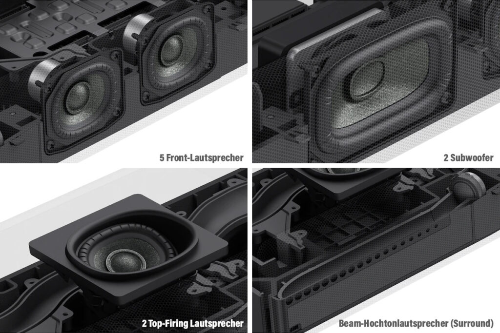 Lautsprecher der 7.1.2 Soundbar HT-A7000 von Sony