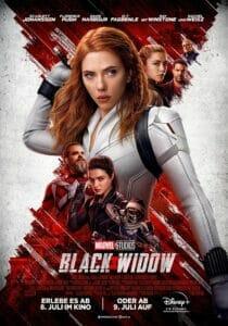 Auf einem offiziellen Black Widow Poster wird auf den VIP-Start auf Disney+ hingewiesen