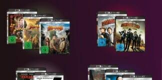 """Limited Editions beliebter Franchises auf 4K Blu-ray wie z.B. """"Euqlizer"""", """"Zombieland"""" oder """"Jumanji"""""""