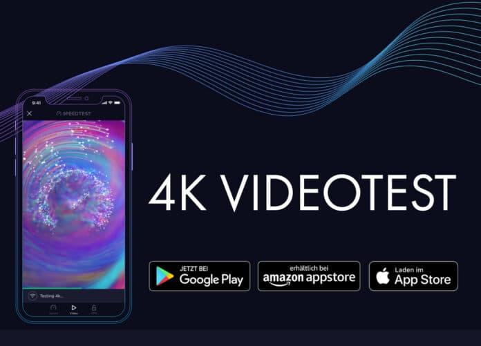Den 4K Videotest von Speedtest gibt es jetzt auch für die Android App