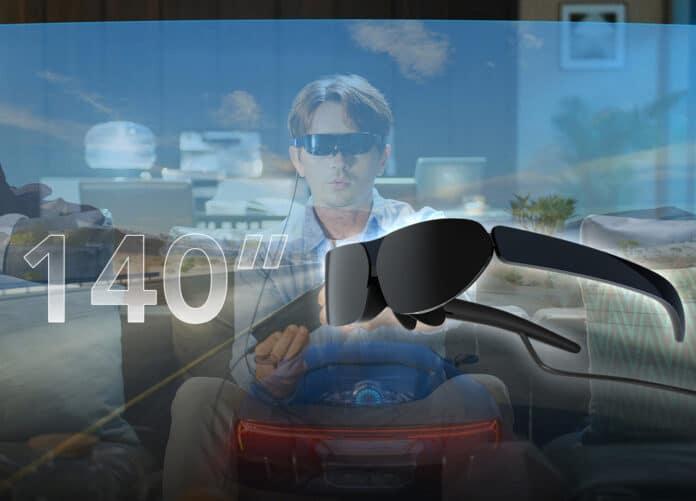 Heimkino auf der Nase, mit der TCL Nxtwear G-Brille mit 1080p OLED-Displays