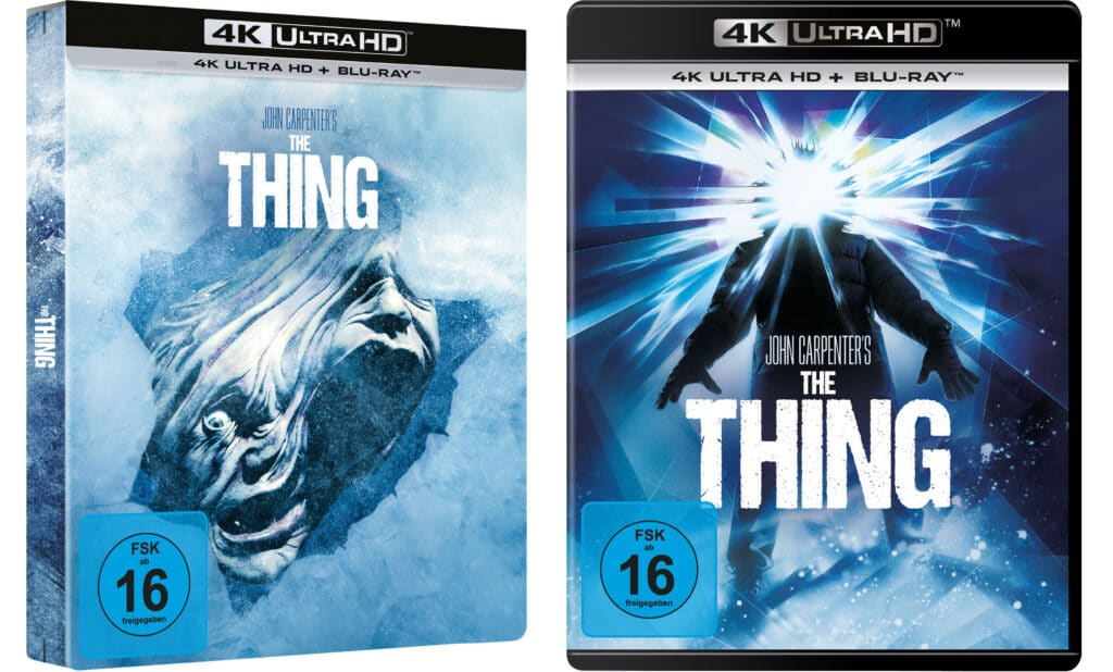 """So sieht das 4K Blu-ray Steelbook & die Amaray von """"The Thing"""" aus"""