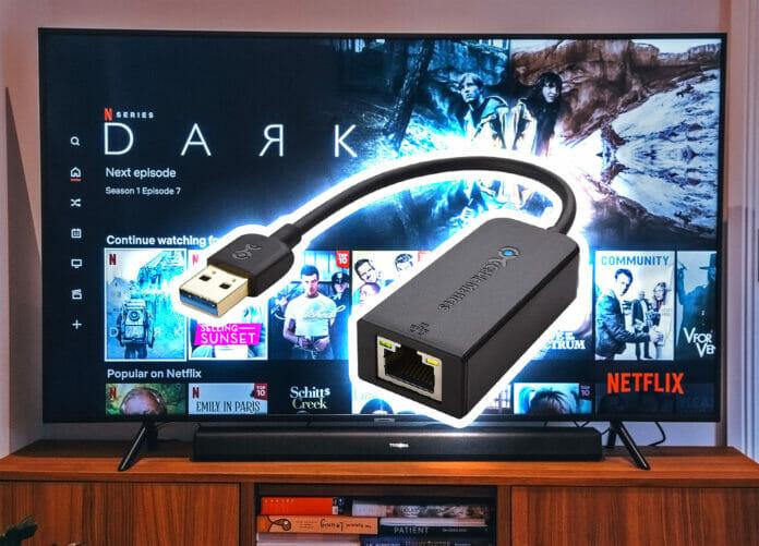 Bis zu 10x schnellere Internetverbindung am TV mit dem USB-zu-Ethernet-Adapter von Cable Matters