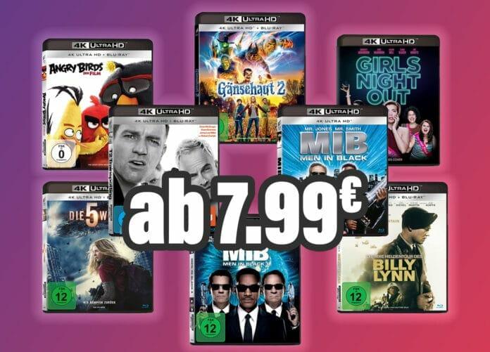 Unzählige 4K UHD Blu-rays ab 7.99 Euro (und unter 10 Euro)
