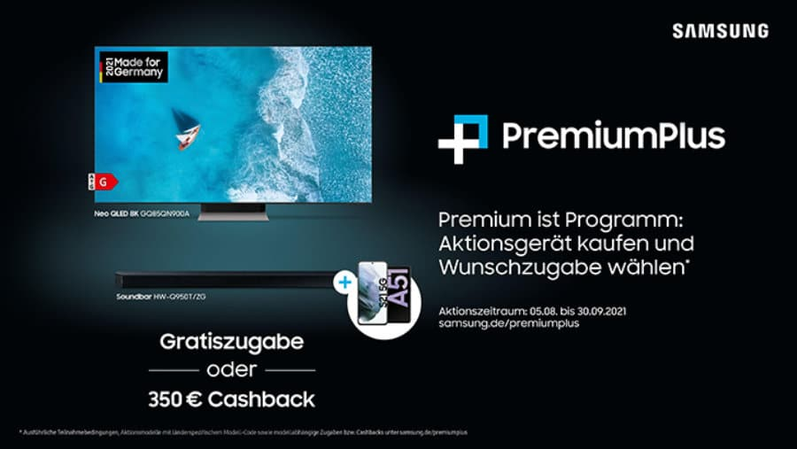 Samsung setzt PremiumPlus nun bis Ende September 2021 fort.