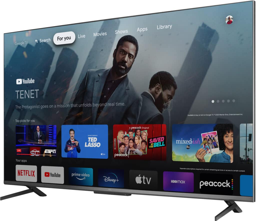 Die TCL 6-Series nutzt Google TV als System.