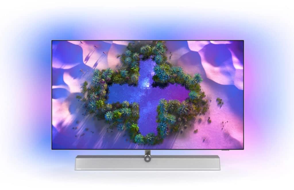 """Das 4-seitige Ambilight ist eines der großen """"Plus"""" des OLED936 4K Android TVs"""