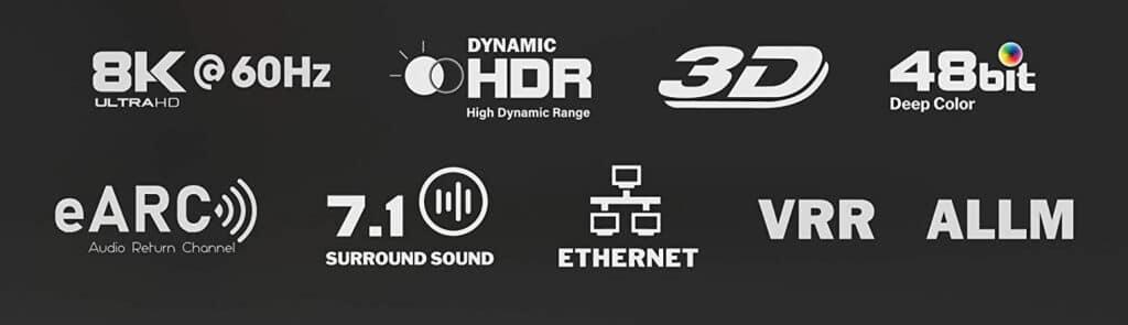 Hauptfeatures der HDMI 2.1 Kabel von Kabeldirekt