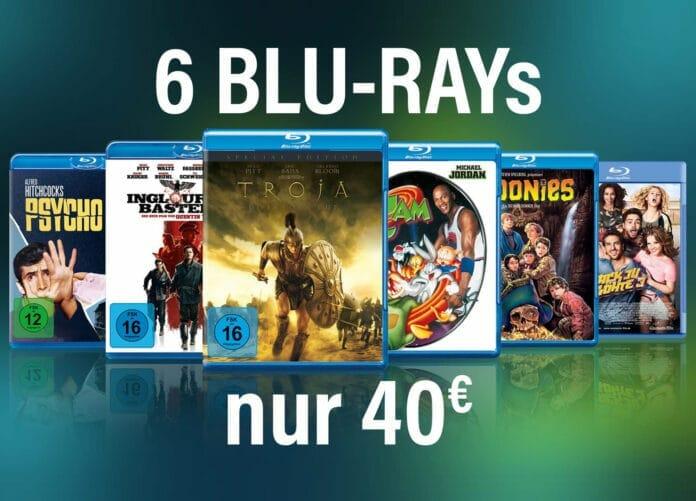 6 Blu-rays für kleines Geld - nur 40Euro in der Aktion!