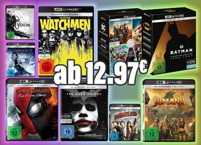Unzählige günstige Ultra HD Blu-rays auf Amazon.de