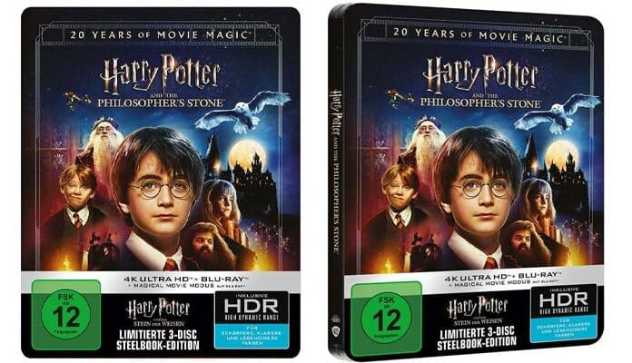 20 jähriges Jubiläum Harry Potter 4K Blu-ray Steelbook