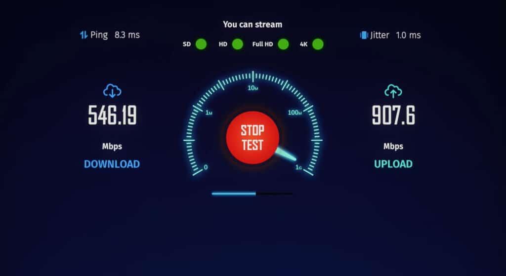 Im Internet Speedtest erreichte Vincent mit dem USB-zu-Ethernet-Adapter einen Download von fast 600 Mbit/s und einen Upload von fast einem Gigabite