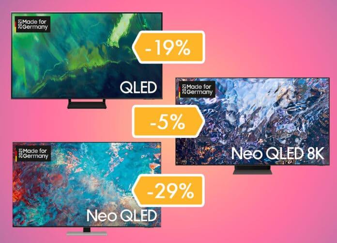Amazon reduziert unzählige QLED und NEO QLED Modelle aus 2021 (4K & 8K)