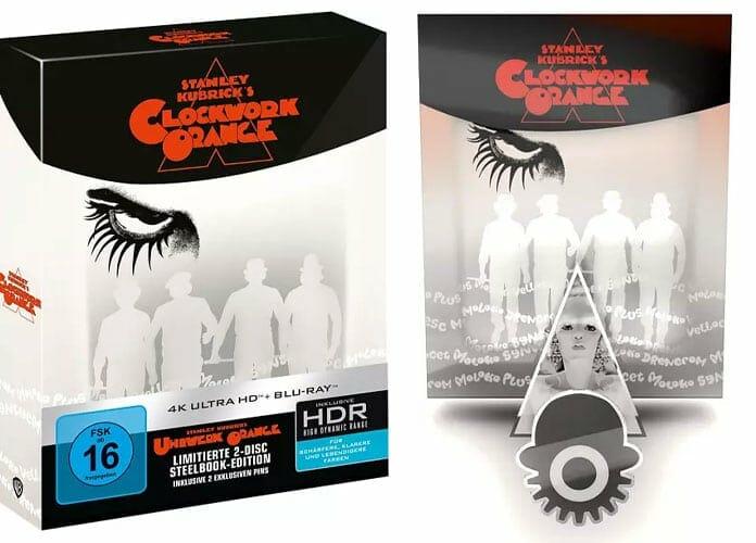 """Das Titans of Cult 4K Blu-ray Steelbook von """"Uhrwerk Orange"""" in 2. Pins!"""