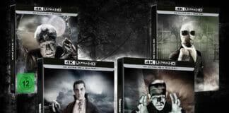 Horror-Opas: Dracula, Frankenstein, Der Unsichtbare und Der Wolfsmann als 4K Blu-ray Steelbook