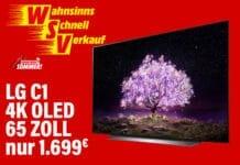 Unschlagbar günstig: LG 4K OLED TV C1 mit 65 Zoll für nur 1.699 Euro