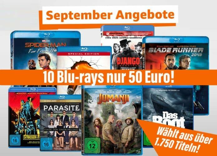 10 Blu-ray für 50 Euro Aktion