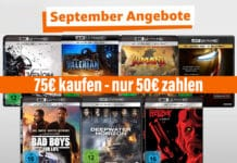 75 Euro kaufen nur 50 Euro bezahlen auf 4K UHD Blu-rays