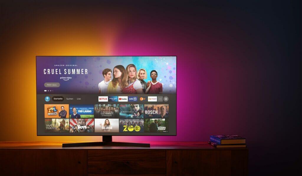 Der Fire TV Stick 4K MAX kommt natürlich mit der neusten FireOS Nutzeroberfläche