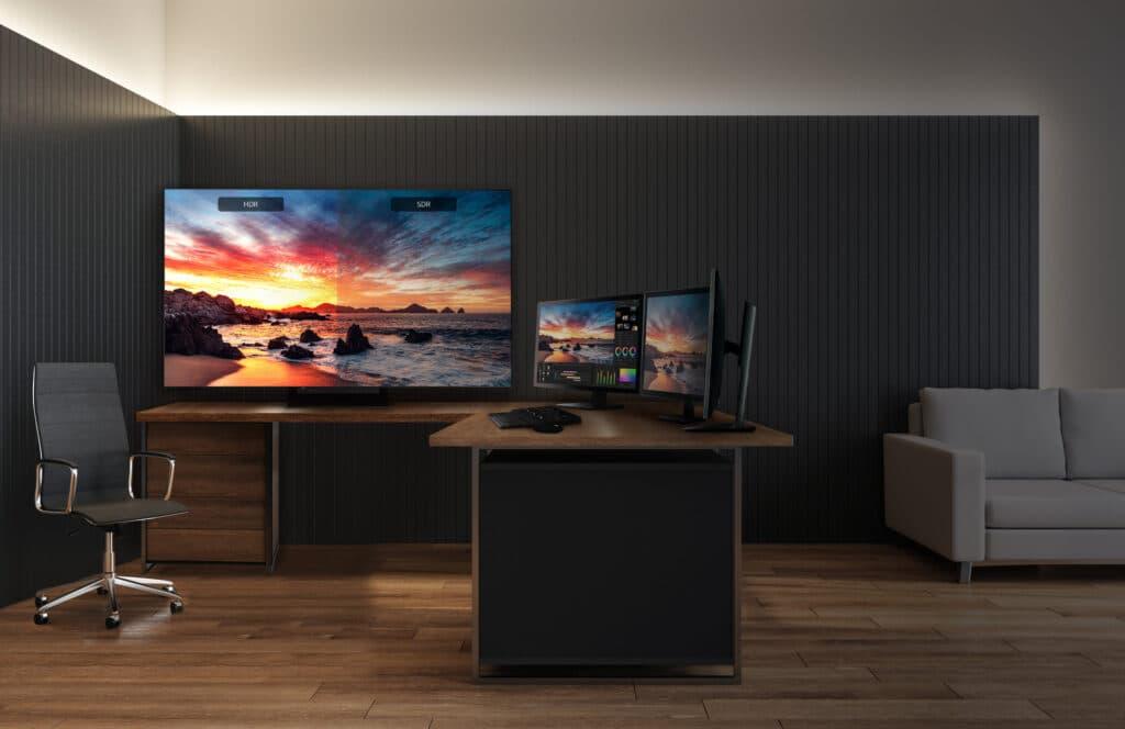 Der LG UltraFine OLED Pro 65EP5G ist für höchste Ansprüche gedacht.