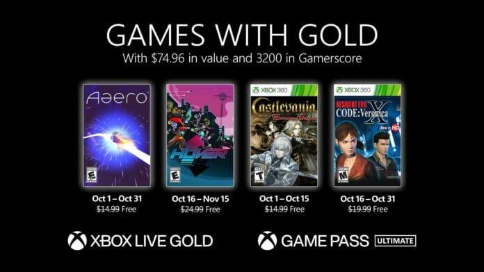Die Xbox Games with Gold für Oktober 2021 sind bekannt.