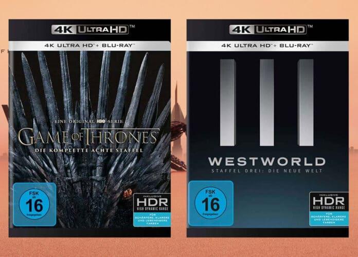 GOT Staffel 8 und Westworld Staffel 3 sind jetzt als 4K Blu-ray Amaray vorbestellbar