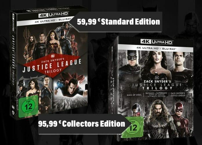 Günstiger Zack Snyder Justice League Trilogie 4K Blu-ray (Standard Edition)