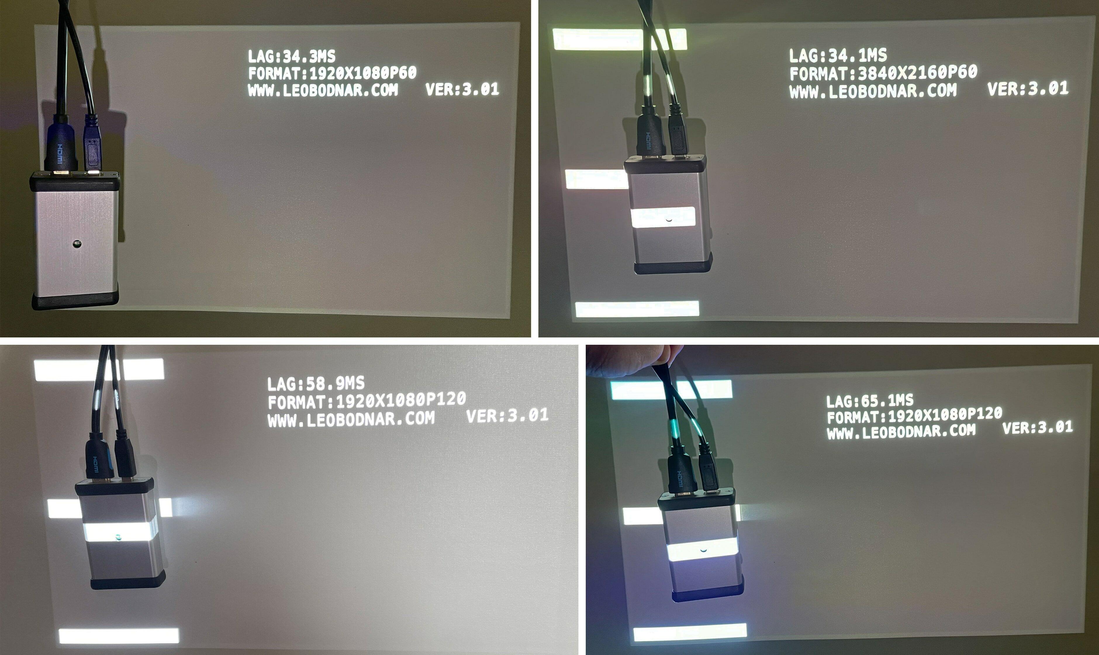 Der Input-Lag des XGIMI Horizon Pro liegt im Gaming-Modus bei 34ms