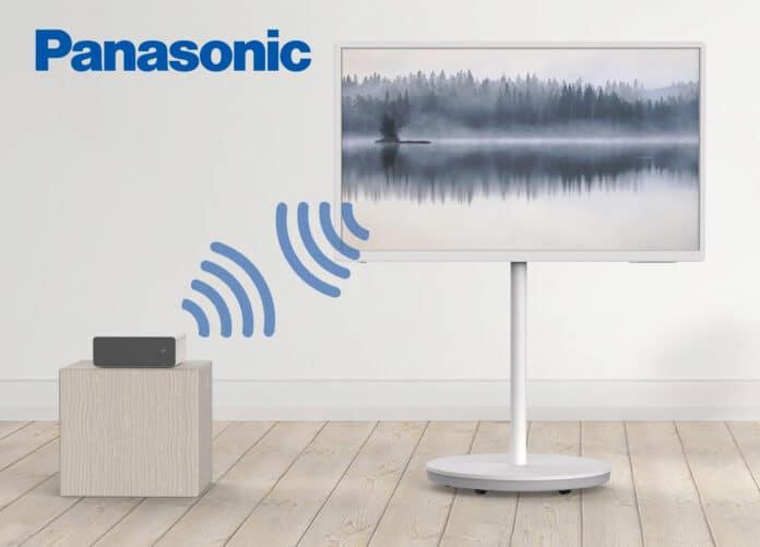 Panasonics TH-43LF1 4K-TV empfängt Live-Fernsehen drahtlos über eine separate Anschluss-Box